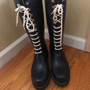 Ilse Jacobsen Shoes - Knee high Isle Jacobsen blue rain boots